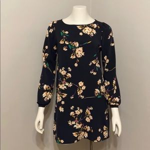 Lulu's Navy Floral Dress
